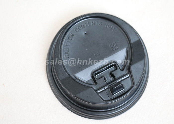 Black White Disposable Paper Cups Lids With Logo Printed For Hot Cups