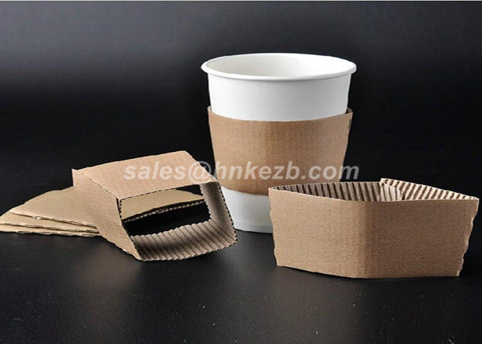 Disposable Paper Cup Accessories Cardboard Paper Sleeves For Coffee Cups